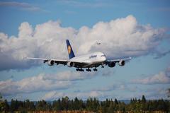 Lufthansa A380 Stock Photos