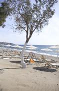 Beach on crete Stock Photos