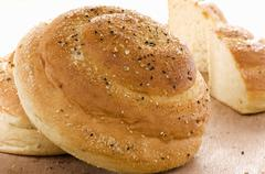 Seed bread with salt and sesame Stock Photos