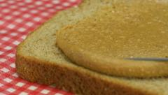 Peanut butter and bread, Slow Motion Stock Footage