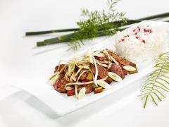 Stock Photo of Thai turkey with bean sprouts