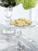 Biscuits on a glass plate - stock photo