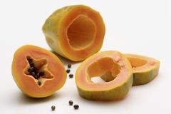 Papaya, sliced - stock photo