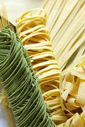 Various types of pasta Stock Photos
