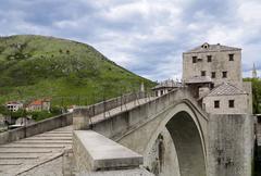 Mostar Bridge, Mostar, Bosnia and Herzegovina Stock Photos