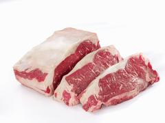 Raw sirloin of beef - stock photo