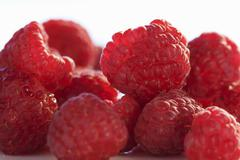 Stock Photo of Several raspberries (close-up)