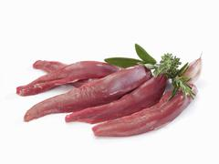 Several lamb fillets - stock photo