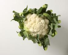 A cauliflower from above Stock Photos