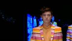 man's Fashion show- close up - stock footage