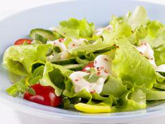 Stock Photo of Salad with cocktail sauce