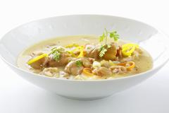 Klachelsuppe (Soup made with knuckle of pork & root vegetables, Styria) - stock photo