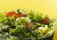 A bowl of mixed salad - stock photo