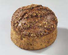 Round multigrain bread Stock Photos