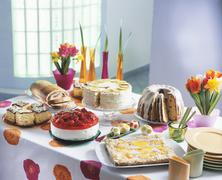 Easter cake buffet (Poland) - stock photo