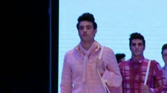 male model  Fashion show-Finale - stock footage