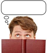 Reading literature reinforces thinking human activity Stock Photos
