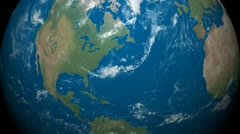 3D Earth Globe Map, USA, America Stock Footage
