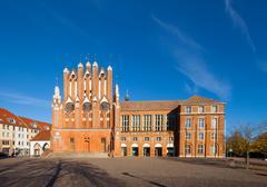 Rathaus building frankfurt oder Stock Photos