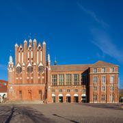 rathaus building frankfurt oder - stock photo