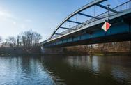Stock Photo of bridge over spree at fuerstenwalde