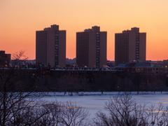 boston university warren towers - stock photo