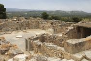 Archeological site of festos in crete Stock Photos