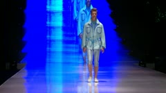 Male model  Fashion show Stock Footage