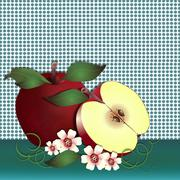 Apple delight turquoise - stock illustration