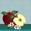 Stock Illustration of Apple delight turquoise