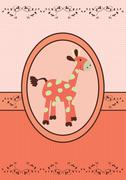 Baby giraffe image - stock illustration