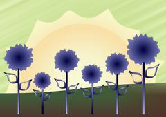 Fluffy blue sunshine Stock Illustration