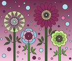 Flower family plum Stock Illustration