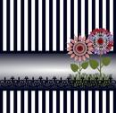 Stock Illustration of Flowers & a fence