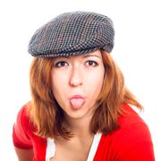 Funny woman face Stock Photos