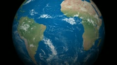 3D Earth Globe Map, Brazil, Central-South America Stock Footage