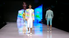 male model  Fashion show - stock footage