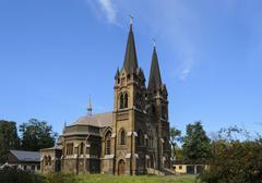 Stock Photo of Catholic Church 1. Dneprodzerzhinsk, Ukraine.