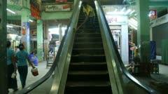 Burma Escalator Stock Footage