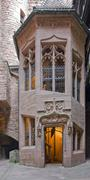 architectural detail inside haut-koenigsbourg castle - stock photo