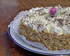Closeup of a chantilly cake Stock Photos