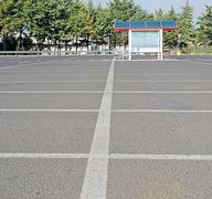 Empty parking Stock Photos
