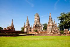 Wat chai wattanaram, ayutthaya, thailand Stock Photos