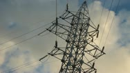 High voltage towers. winter Stock Footage