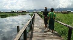 Burma Inle Lake 43 - stock footage