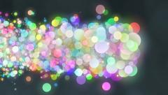 crazy balls in color - stock footage