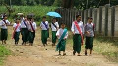 Burmese Students Stock Footage