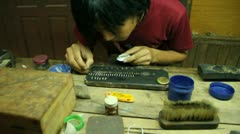 Stock Video Footage of Burma Silver Makers 7