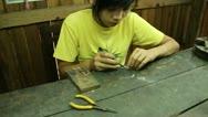Burma Silver Makers 8 Stock Footage