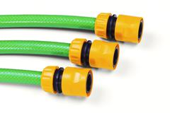 hoses for watering - stock photo
